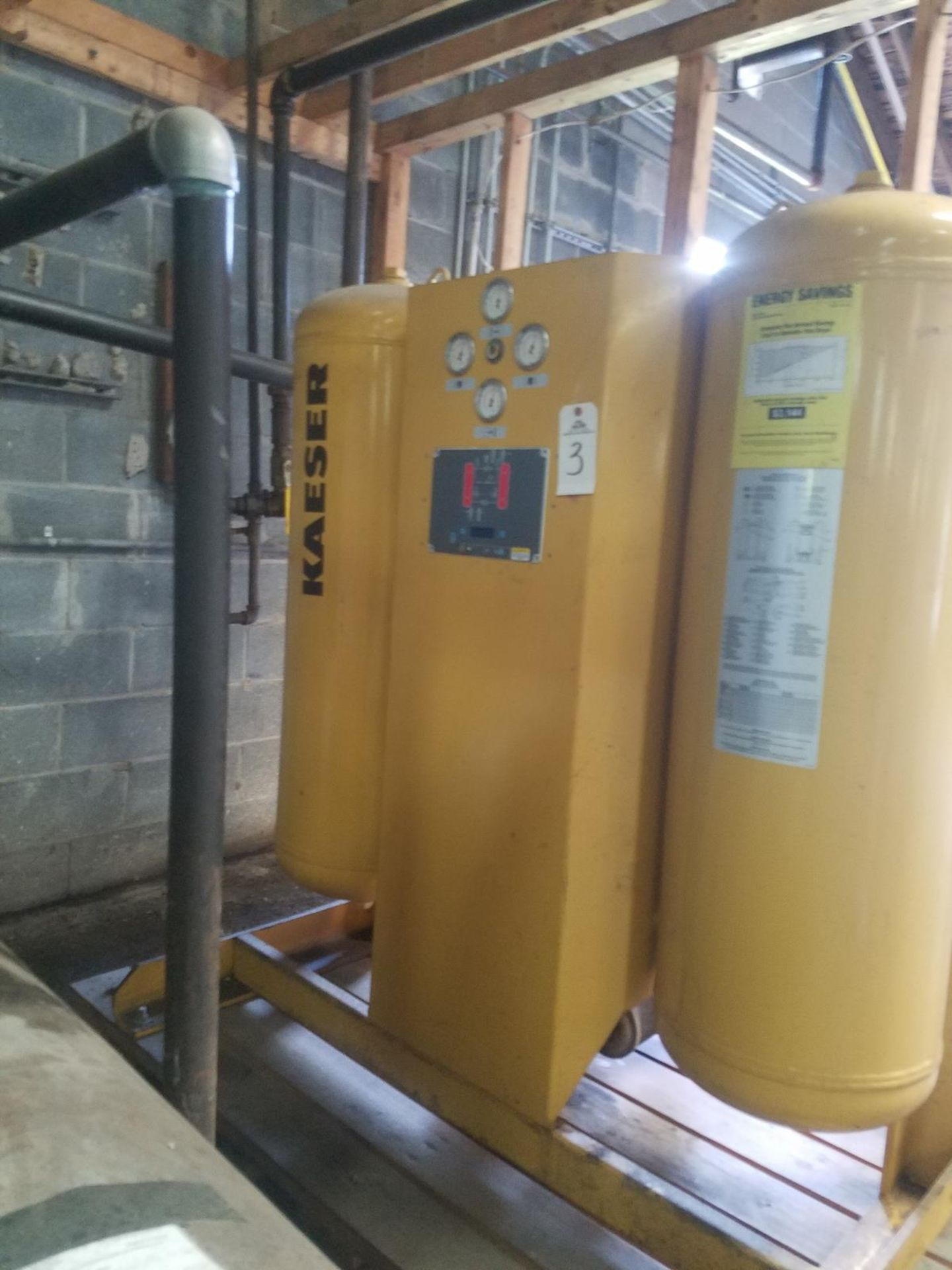 Kaeser Compressed Air Dryer, M# KADPS-370, 370 SCFM at 100 PSIG, 120F Max Operat | Rig Fee: $250