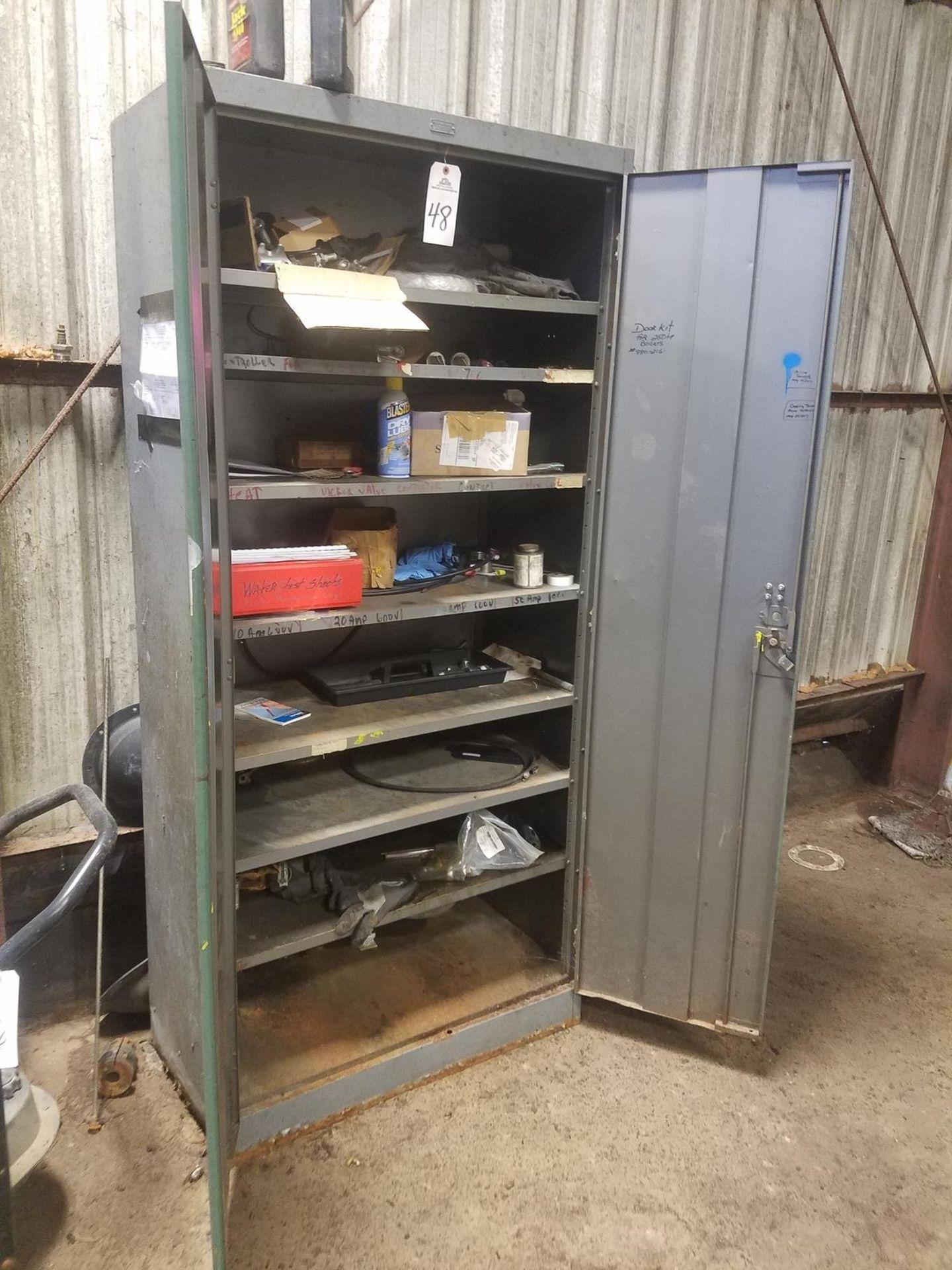 2 Door Storage Cabinet, W/ Contents   Rig Fee: $50