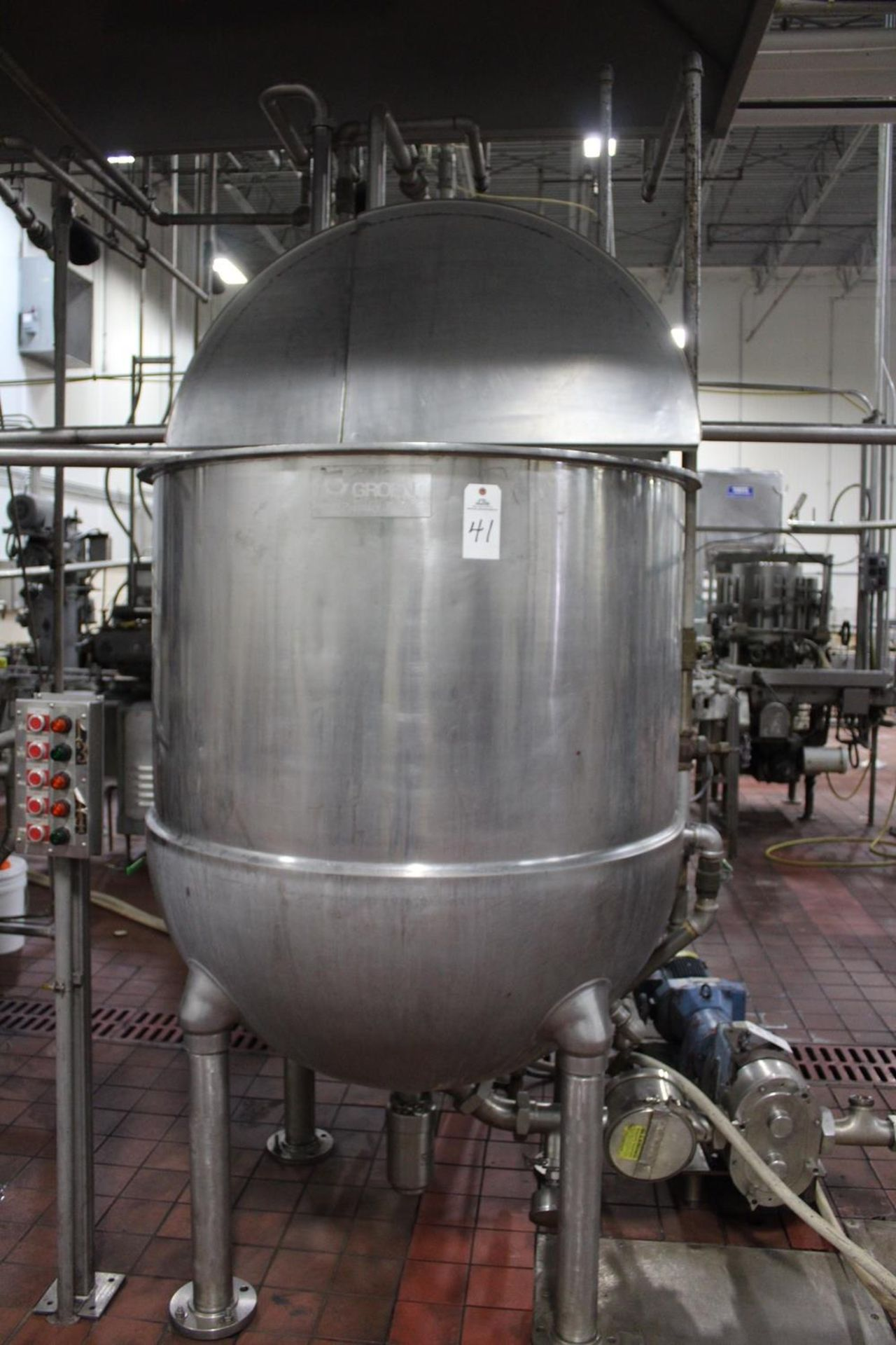 Lot 41 - Groen 300 Gallon Jacketed Scrape Surface Twin Agitated Kettle, Incl | Subj to Bulk | Rig Fee: $450