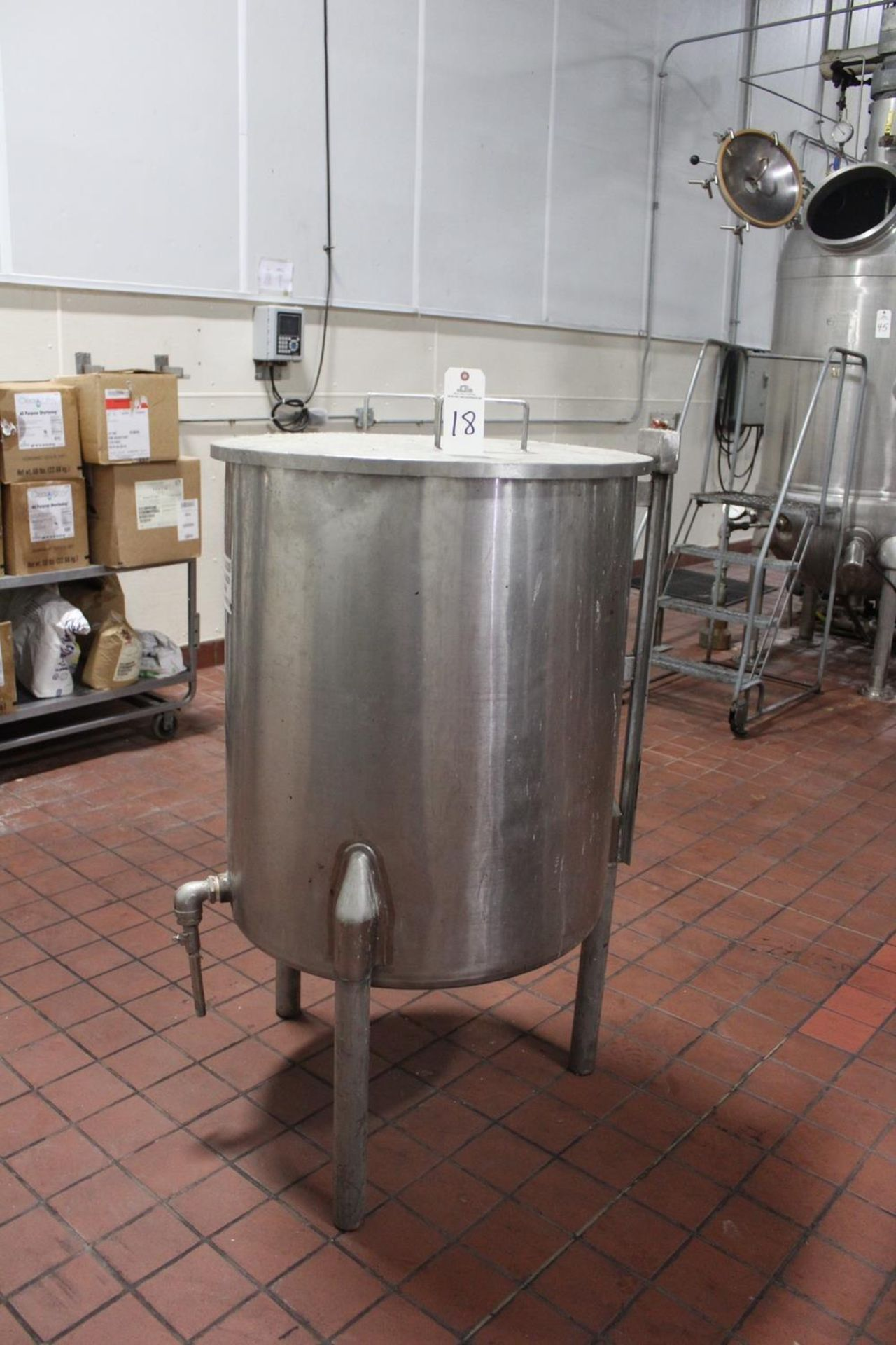 """Lot 18 - Stainless Steel Tank, 30"""" X 35"""" Deep 