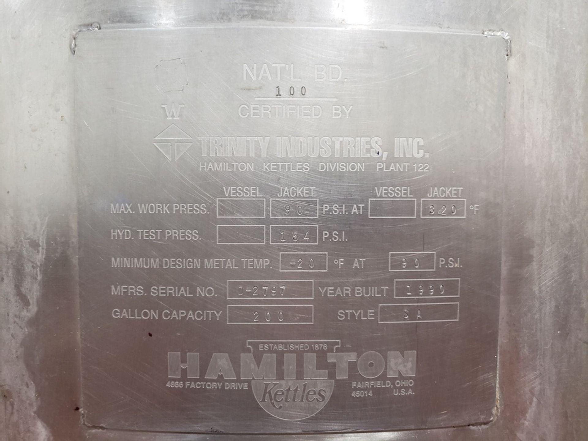 Lot 31 - Hamilton 200 Gallon Jacketed Vacuum Scrape Surface Cooking Kettle, D | Subj to Bulk | Rig Fee: $450
