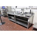 """Stainless Steel Work Bench, 30"""" X 102"""" 