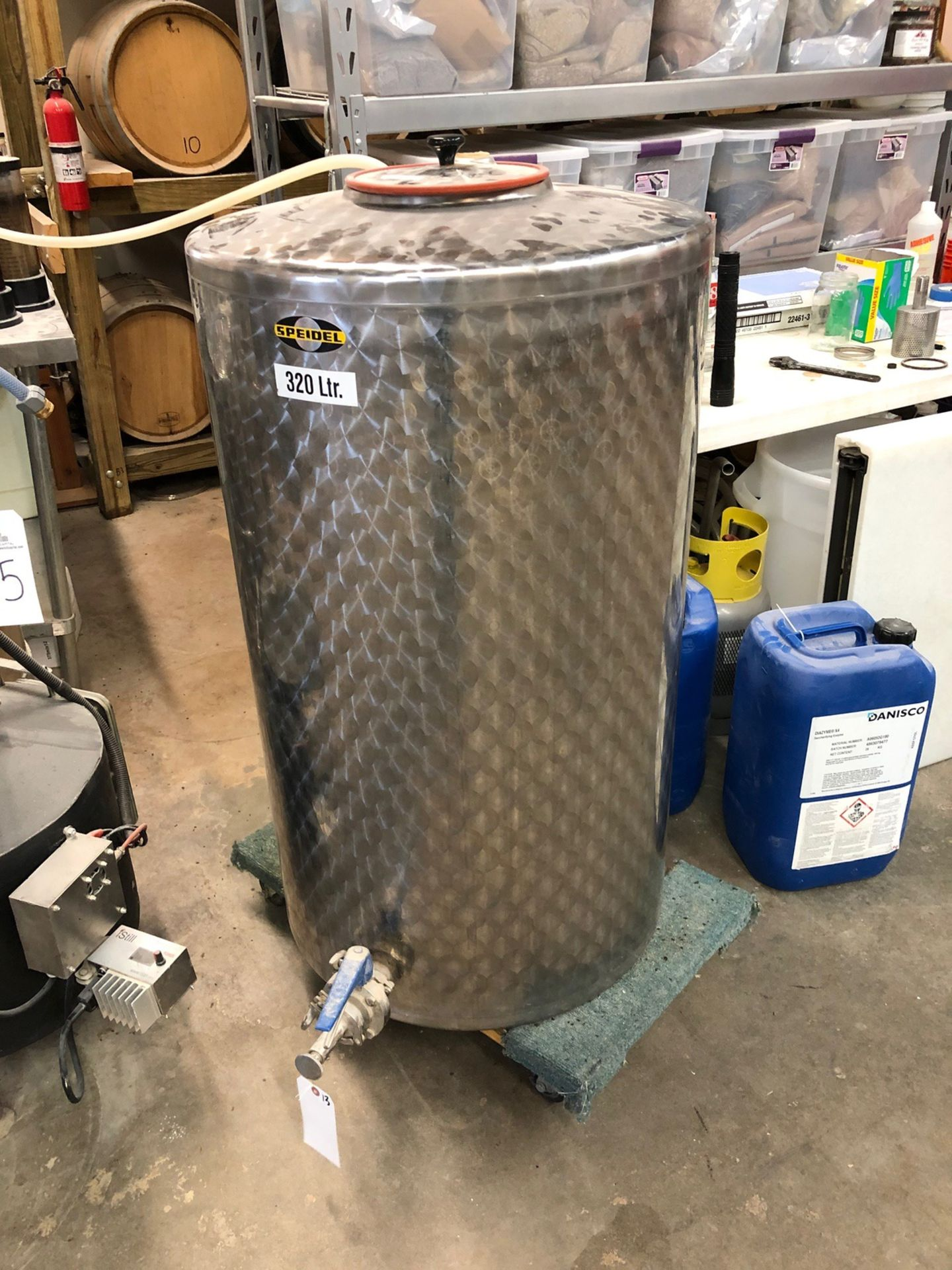 Lot 13 - Speidel 320L Stainless Steel Holding Tank, Approx 45in OAH x 26in OD | Sub to Bulk | Rig Fee: $75