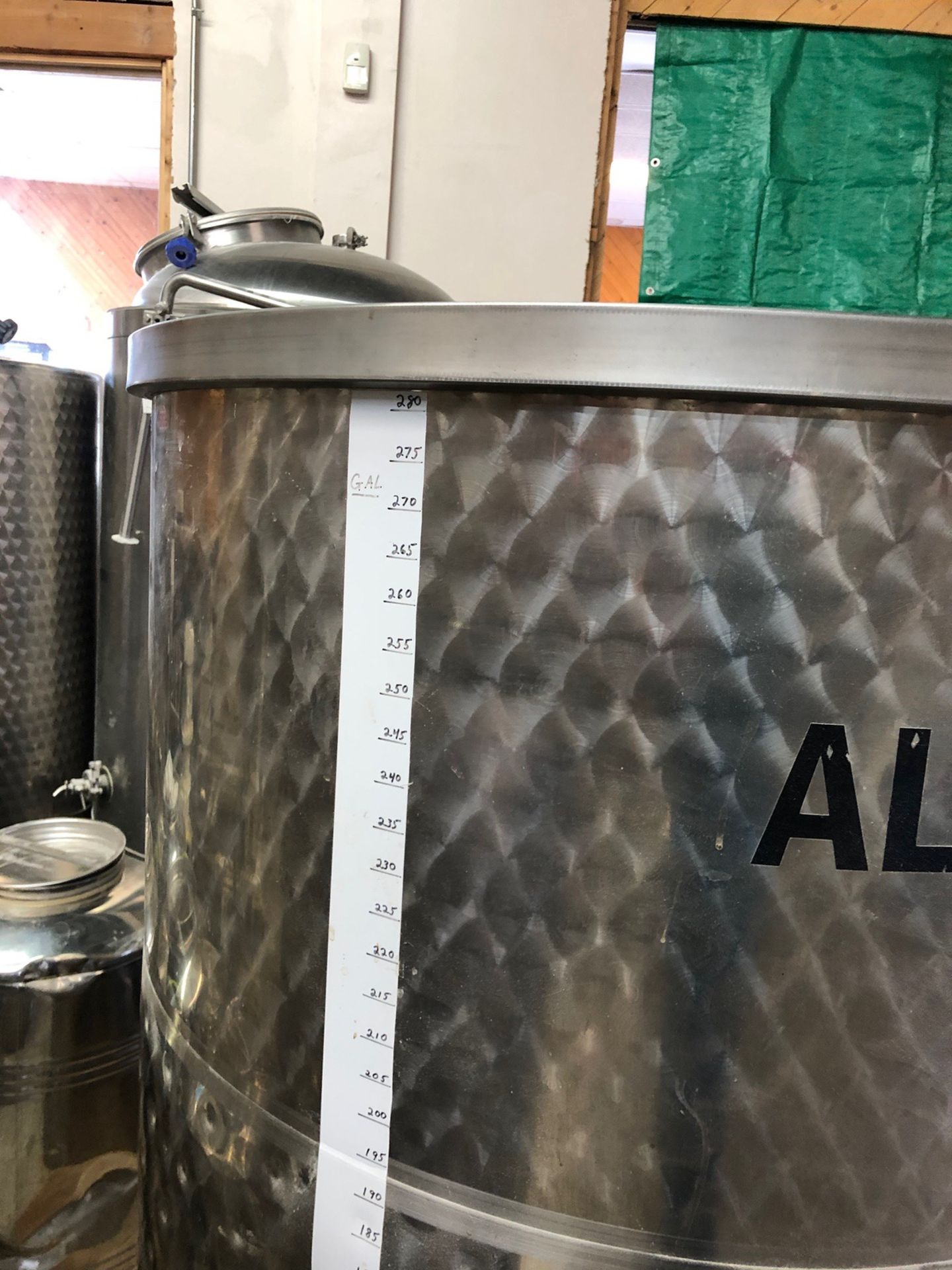 Lot 12 - 260 Gallon Stainless Steel Holding Tank, Approx 38in OD x 61in OAH | Sub to Bulk | Rig Fee: $150