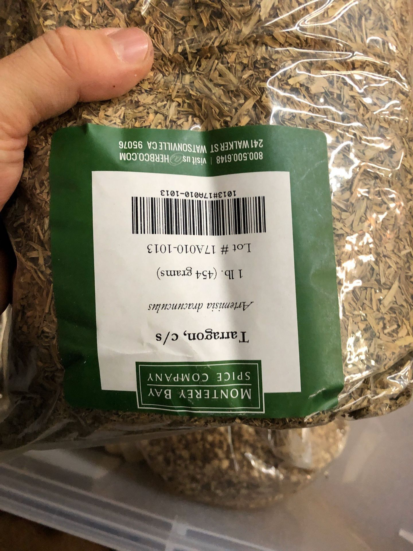 Lot 101 - Lot of Herbs and Botanicals: Coriander Seed, Juniper Berry, Jasmine Tea, Hibisc | Rig Fee: $20 or HC