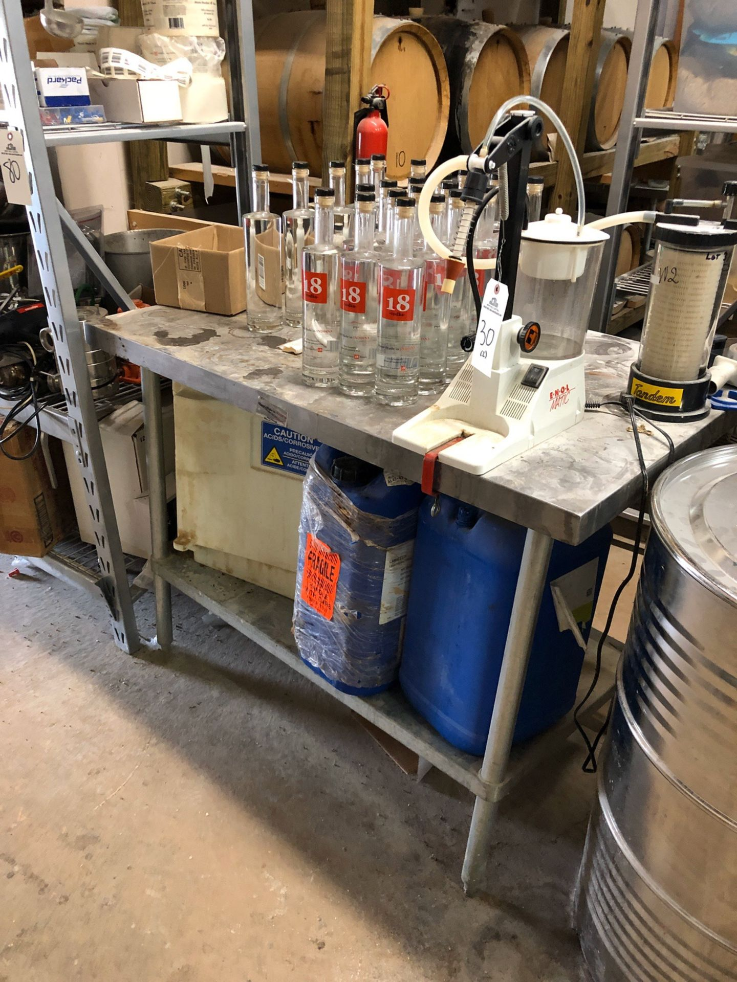 Lot 81 - (5) Stainless Steel Tables (No Contents) | Rig Fee: $50