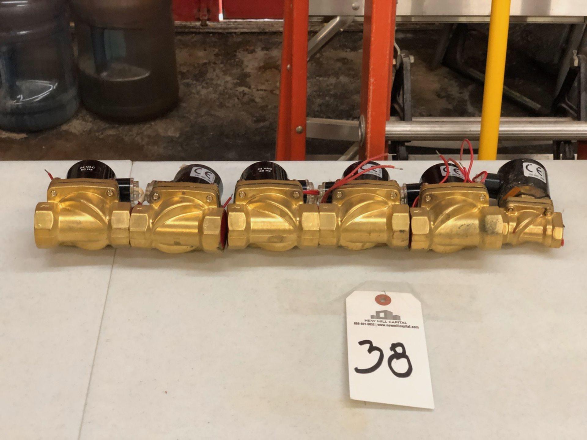 Lot 38 - Lot of (6) Solenoid Valves, 24v DC | Sub to Bulk | Rig Fee: $30 or HC