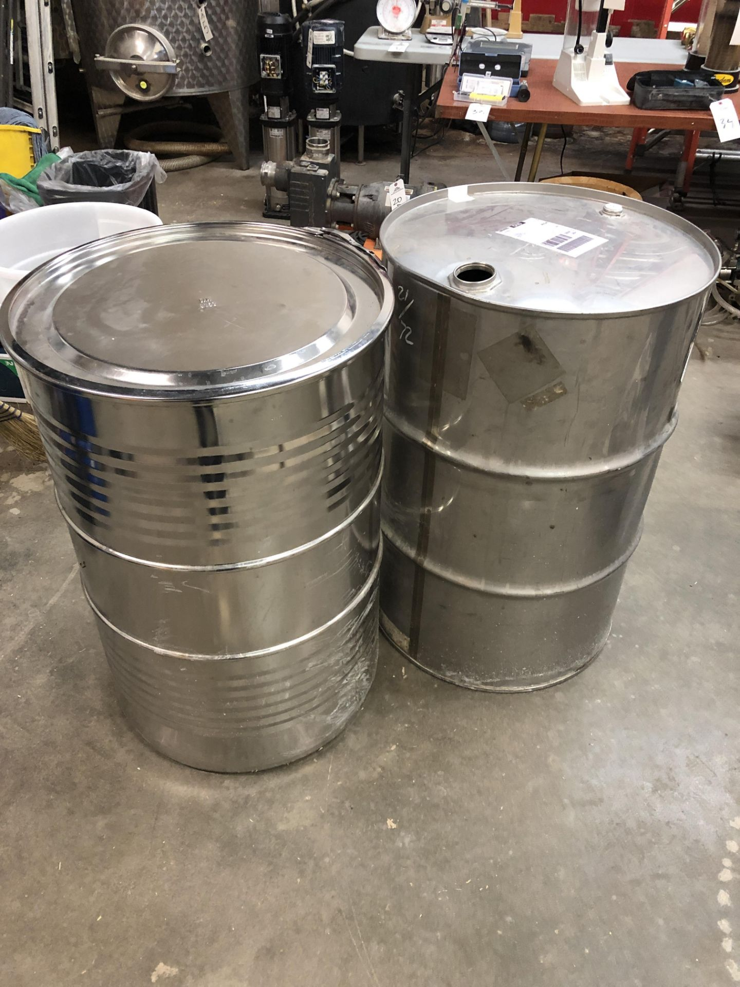 Lot 13F - (4) Steel Drums | Rig Fee: $50 or HC