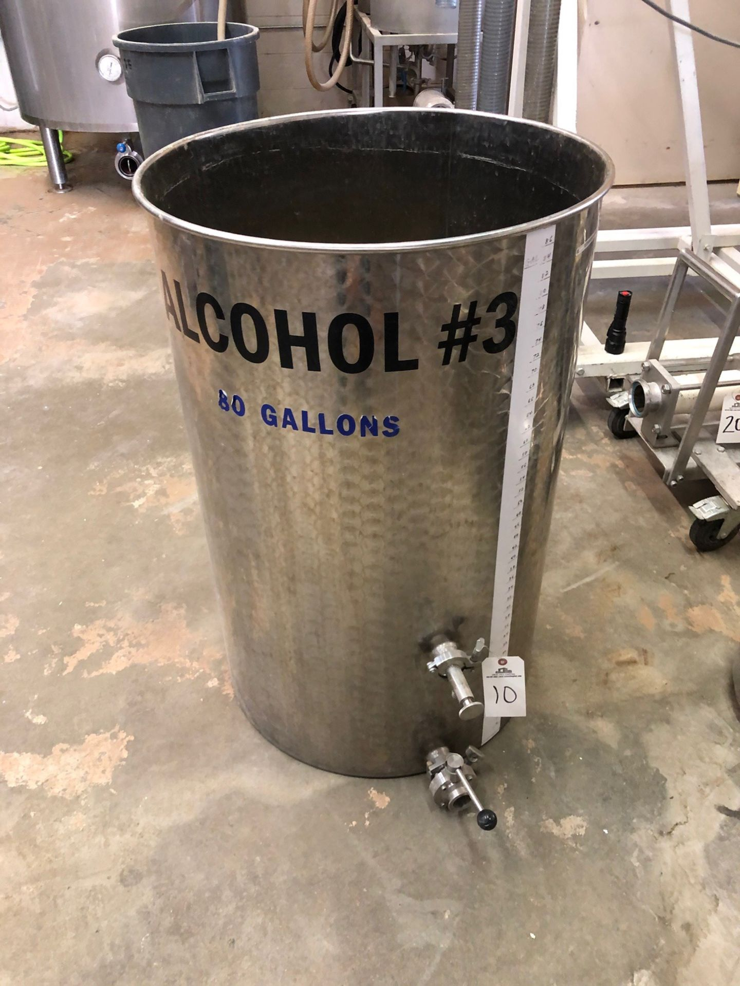 Lot 10 - 80 Gallon Stainless Holding Tank, Approx 25in OD x 40in OAH | Sub to Bulk | Rig Fee: $75
