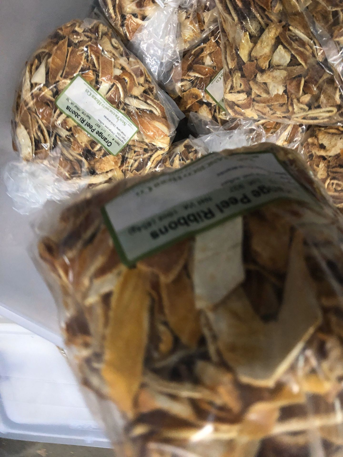 Lot 105 - Lot of Herbs and Botanicals: Lemon Peel, Orange Peel | Rig Fee: $20 or HC