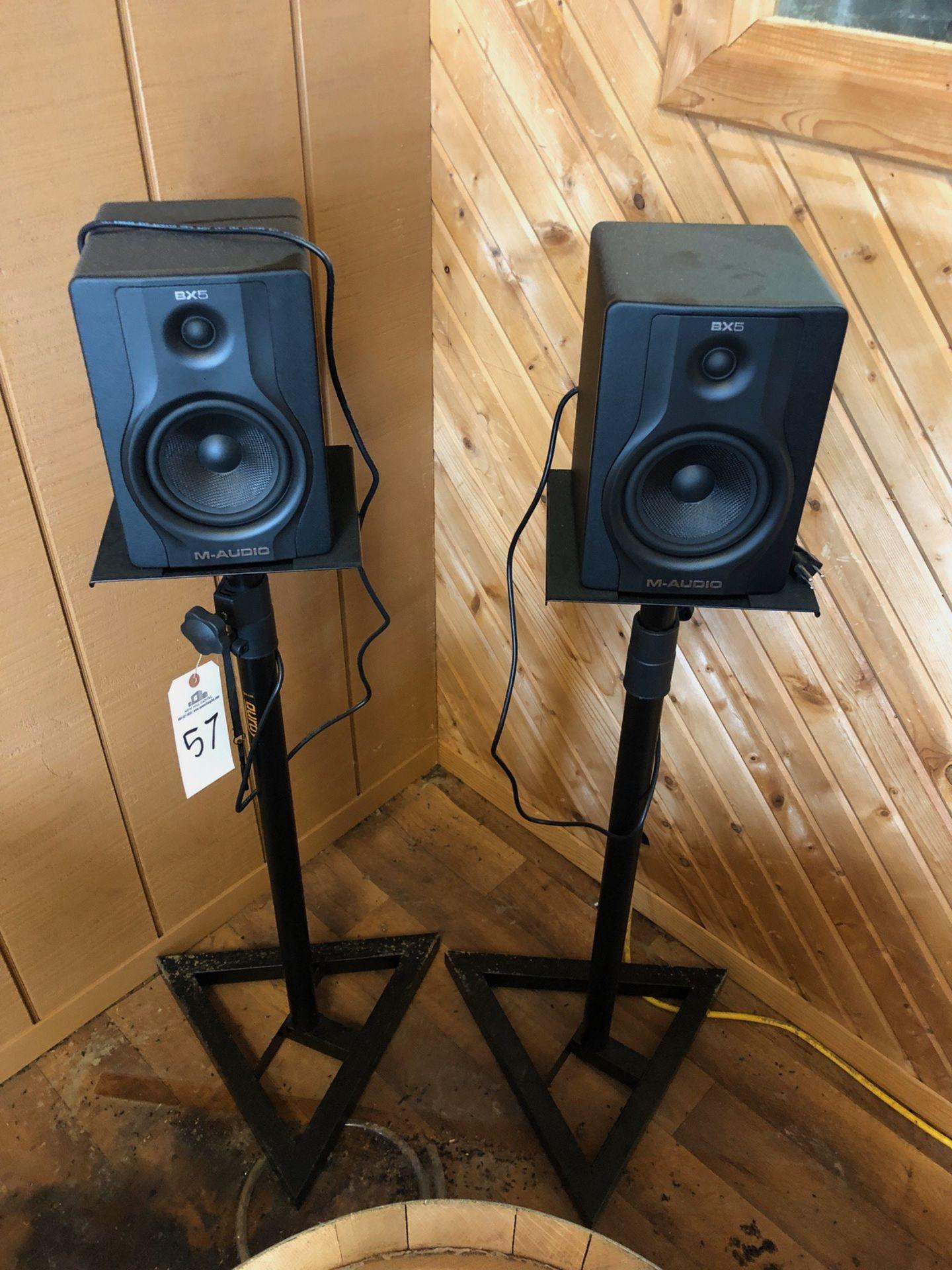 Lot 57 - (2) M-Audio Speakers | Rig Fee: $50 or HC