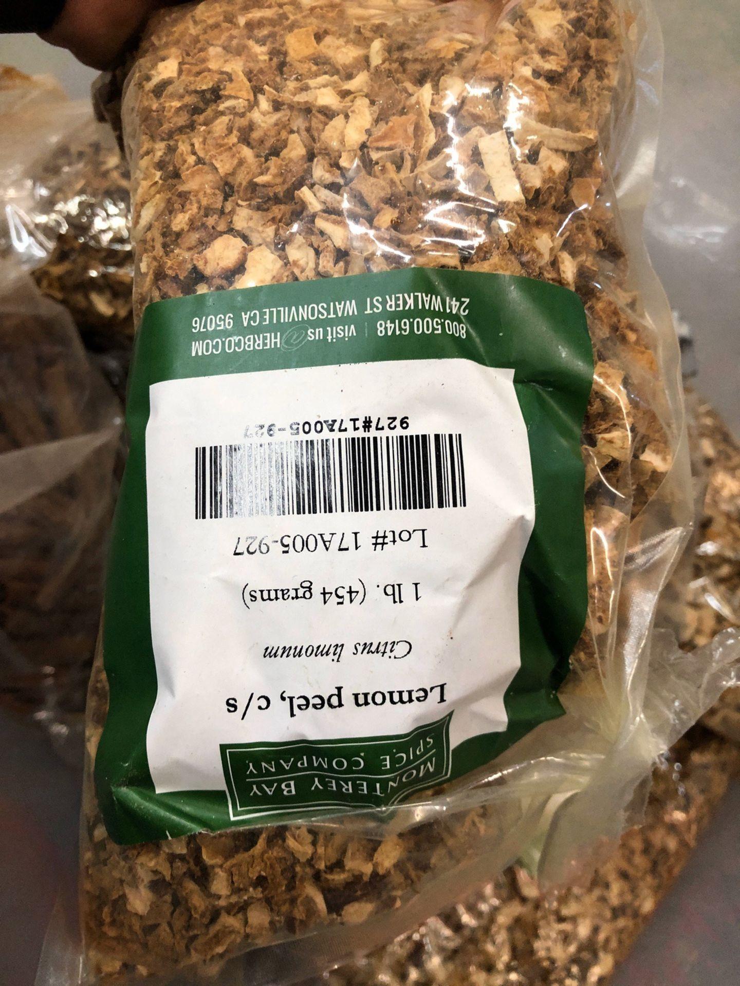 Lot 110 - Lot of Herbs and Botanicals: Lemon Peel, Juniper Berries, Orange Peel, Orris Ro | Rig Fee: $20 or HC
