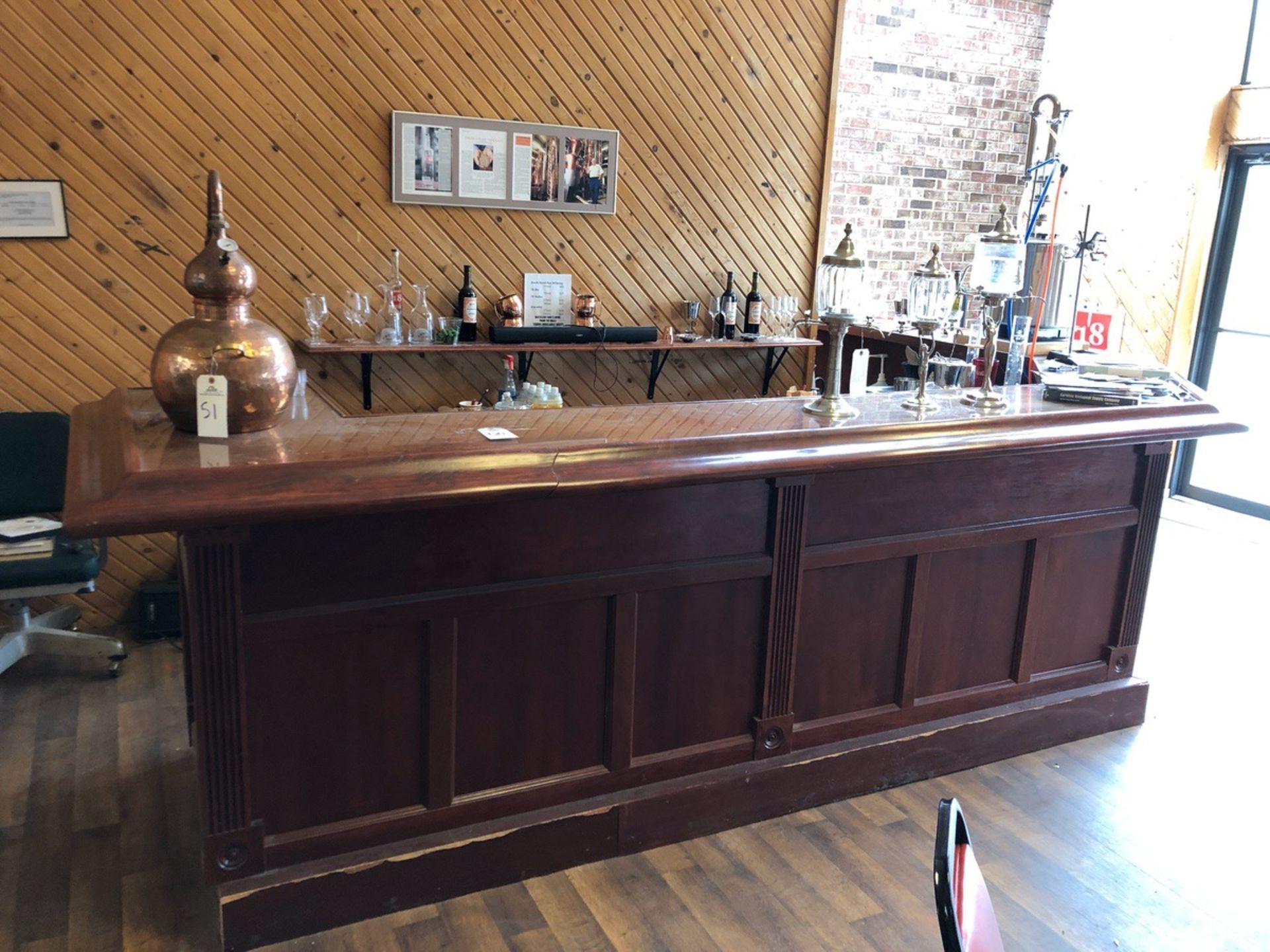Lot 50 - Wooden Bar, Custom (No Contents) | Rig Fee: $700