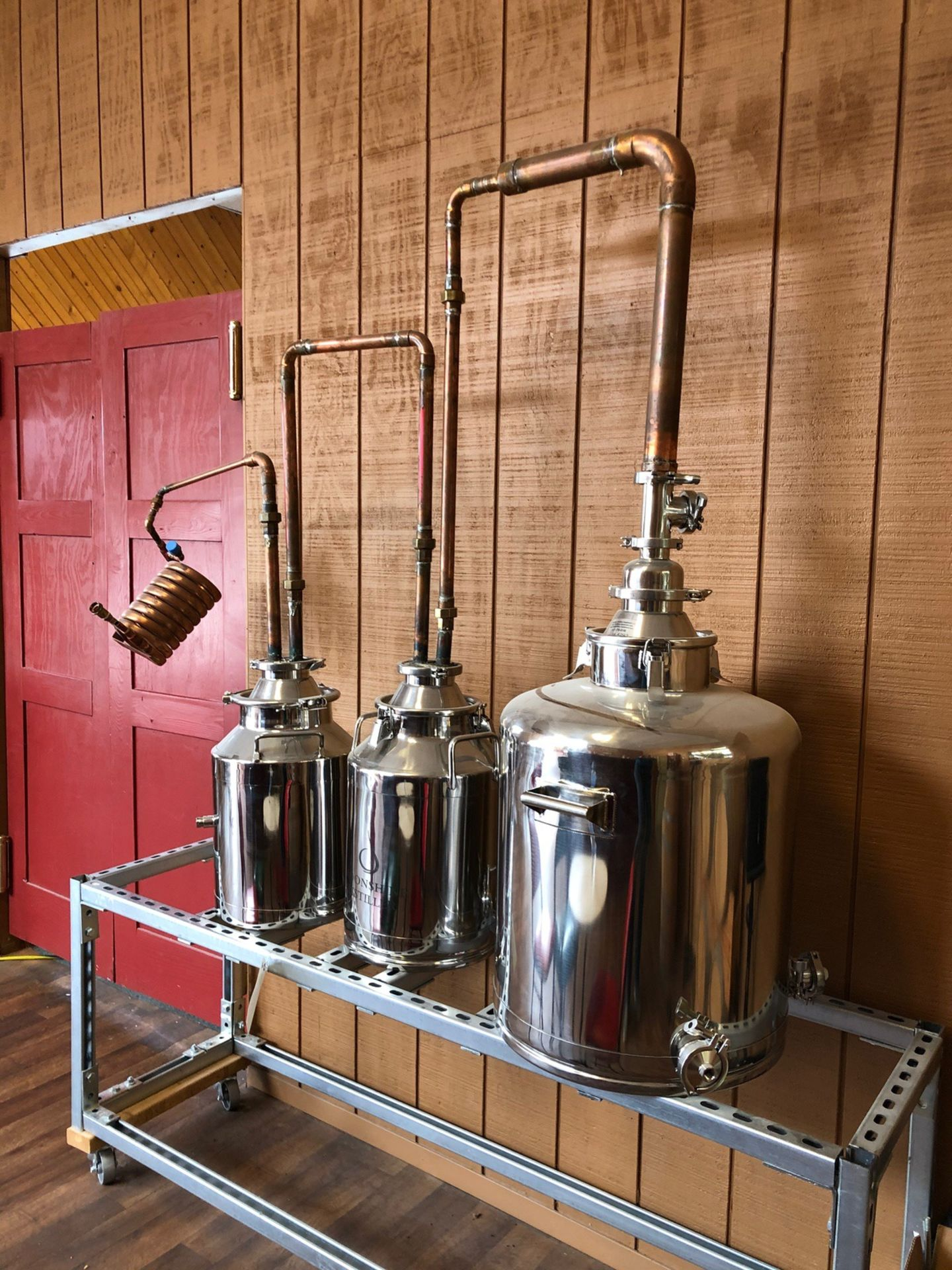Lot 16 - Moonshine Distillery 3-Vessel Display Still | Sub to Bulk | Rig Fee: $50 or HC