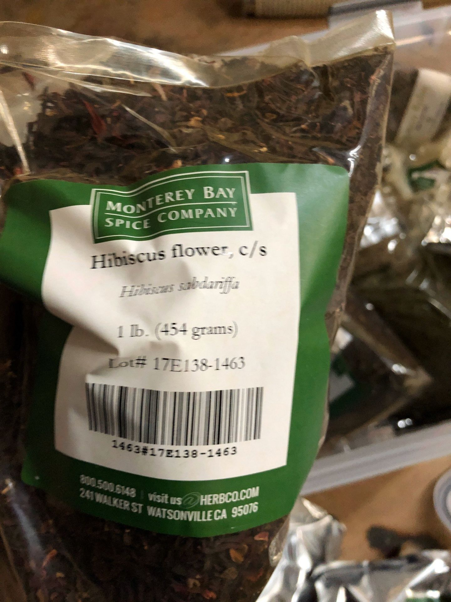 Lot 104 - Lot of Herbs and Botanicals: Hibiscus Flower, Jasmine Tea, Anise Seed, Licorice | Rig Fee: $20 or HC