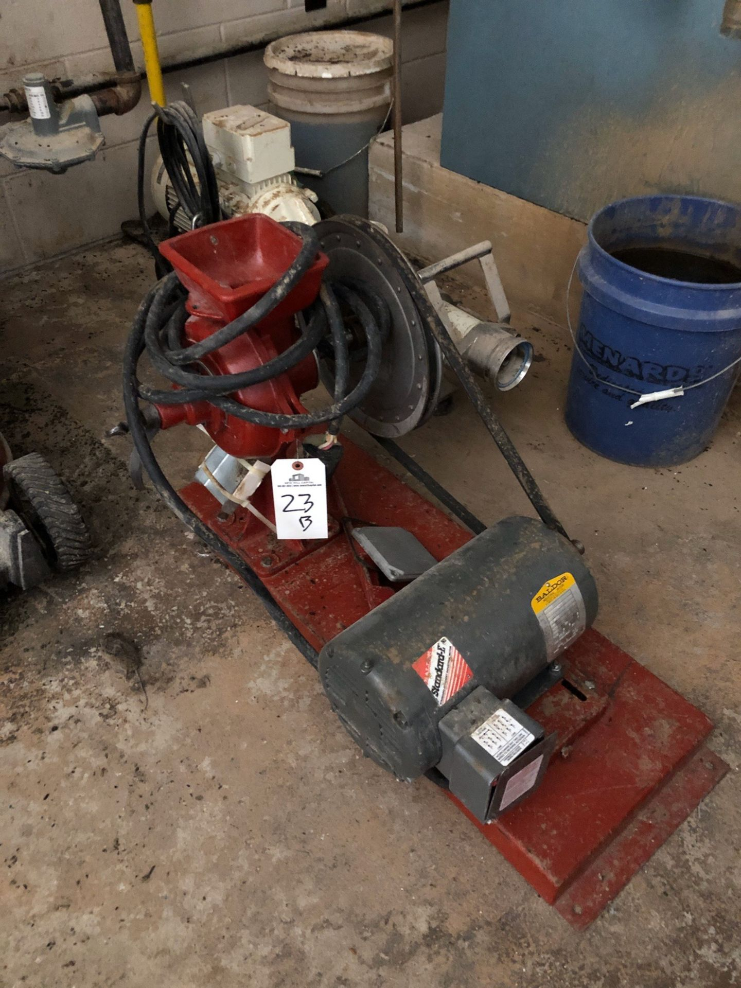 Lot 23B - Floor Mounted Grain Mill, Belt Driven, 3HP | Sub to Bulk | Rig Fee: $25