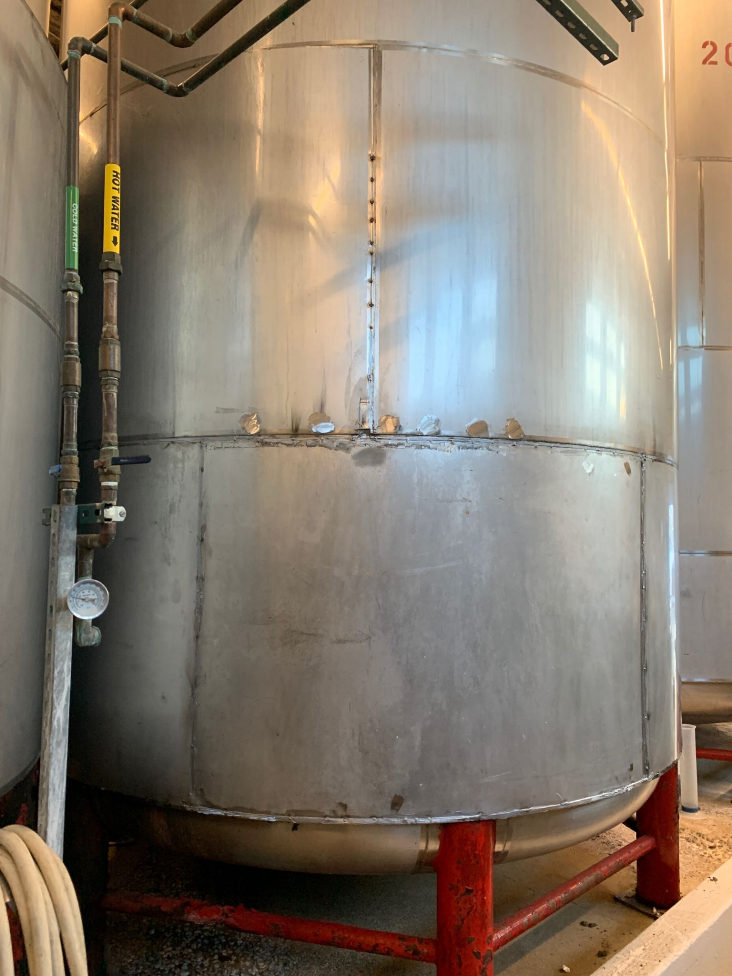 Lot 13 - Santa Rosa 200 BBL Brite Tank, Dish Bottom, Dome Top, Glycol Jacketed, Stainless St | Rig Fee: $3300