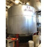Santa Rosa 100 BBL Brite Tank, Dish Bottom, Dome Top, Glycol Jacketed, Stainless St | Rig Fee: $1750
