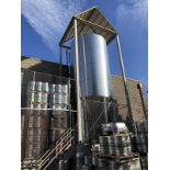 JV Northwest 300 BBL Fermenter, Glycol Jacketed, Stainless Steel, Approx Dimensions | Rig Fee: $4500