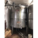 50 BBL Stainless Steel Tank, Damaged Jacket, Approx Dims: 7ft OD x 125in OAH | Rig Fee: $500