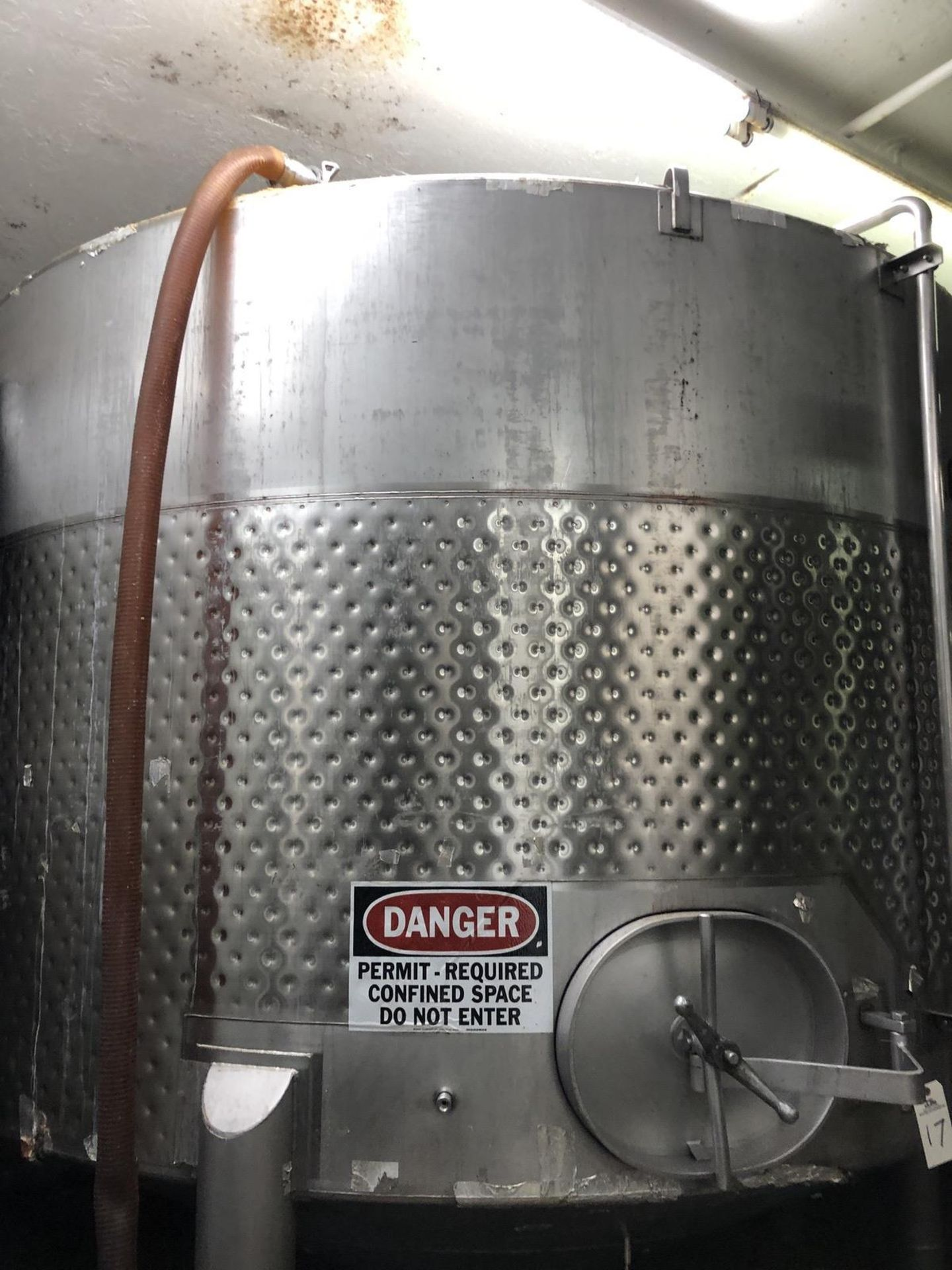 Lot 17 - Santa Rosa 100 BBL Fermenter, Cone Bottom, Glycol Dimple Jacketed, Stainless Steel, | Rig Fee: $2000