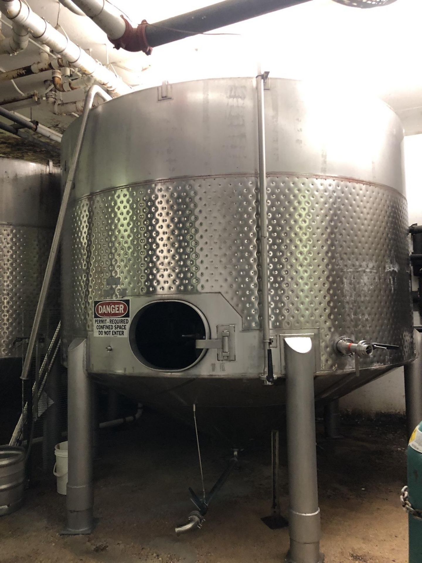 Lot 19 - Santa Rosa 100 BBL Fermenter, Cone Bottom, Glycol Dimple Jacketed, Stainless Steel, | Rig Fee: $2000