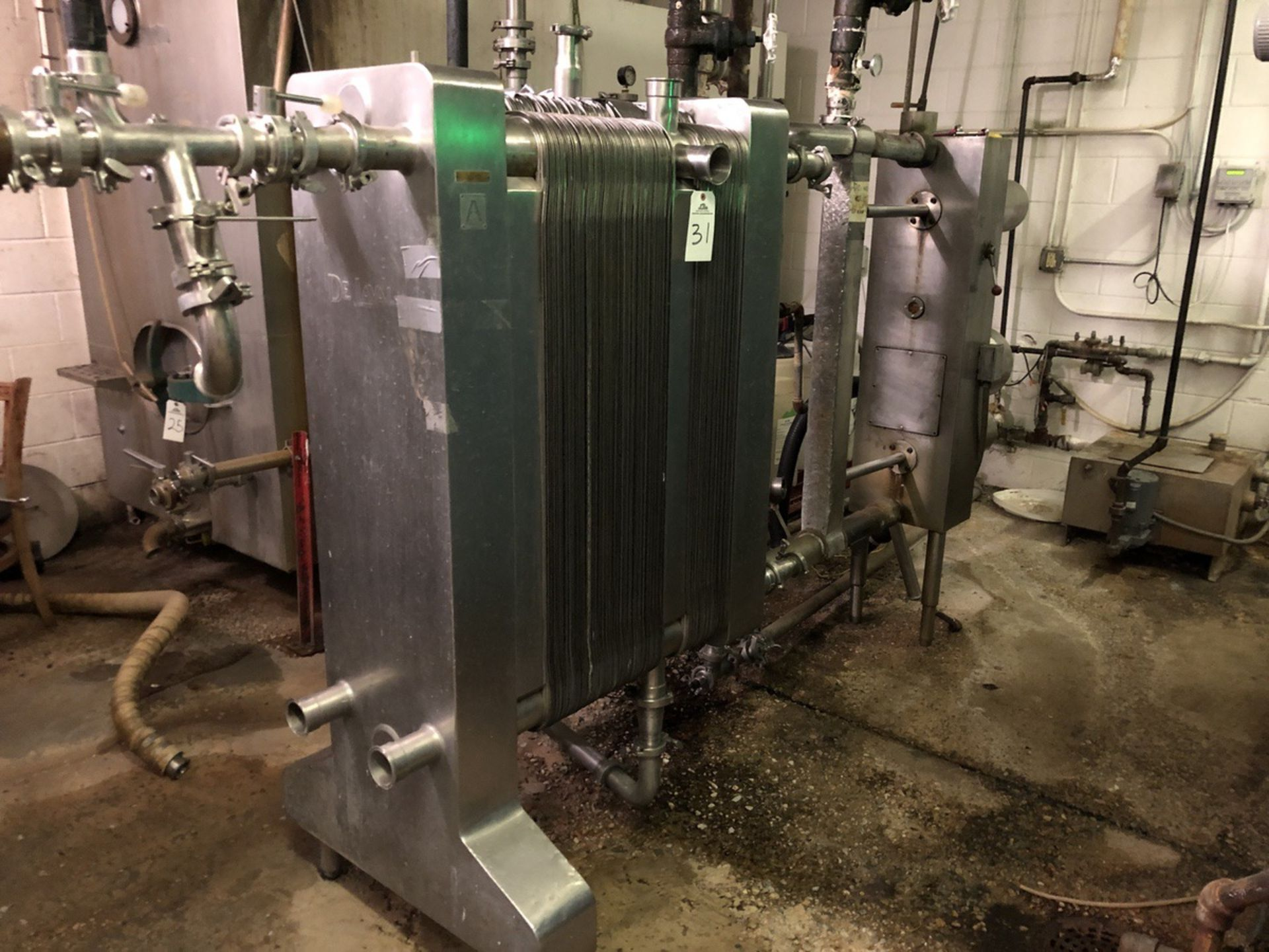 Lot 31 - De Laval P14-RC Plate and Frame Heat Exchanger (Used for Wort Chilling), S/N: 3259 | Rig Fee: $550