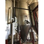 Santa Rosa 90 BBL Fermenter, Cone Bottom, Glycol Jacketed, Stainless Steel, Approx | Rig Fee: $2500