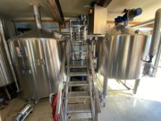 2014 Austin, TX Microbrewery - Lot List Posted: 20BBL Brewhouse Package, (6) 20BBL Fermenters, (8) 20BBL Serving Tanks, Keg Wash/Fill + Support