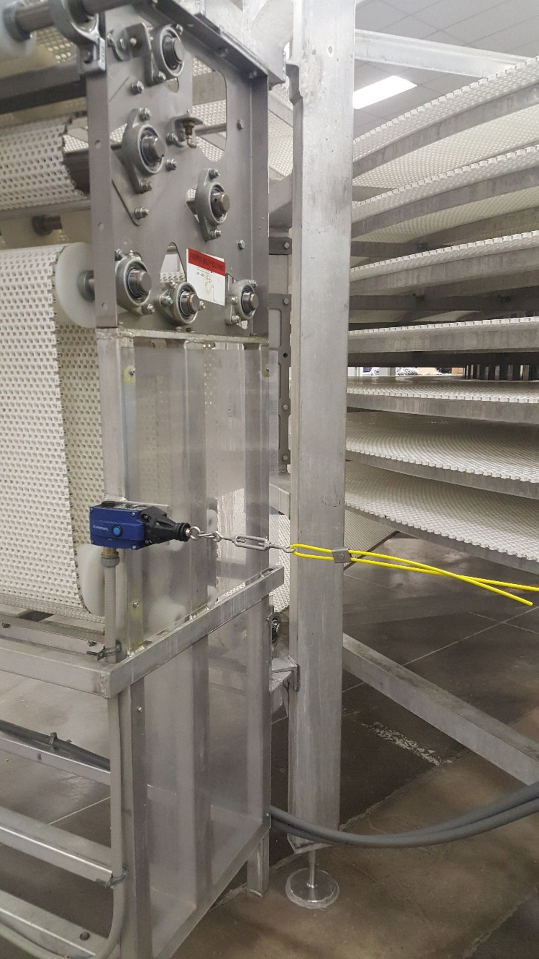 Lot 1 - 2014 IJ White Ambient Spiral Cooling Conveyor, 9-Tier, 26ft-8in Belt Outside Diameter, 48in Wide Int