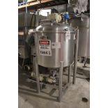 Tanis Food Tec 200 Gallon, Jacketed, Scrape Surface Holding Tank, W/ Waukesha Cherry Burrell Positiv