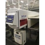 2008 Mettler Toledo Safeline PowerPhase Slab Metal Detector with Conveyor, 53in x 2in Aperture, Conv