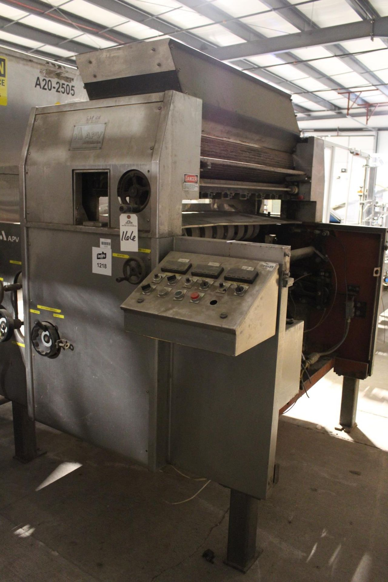 "Lot 2Z - APV Baker 48"" Dough Chunker/Feeder"