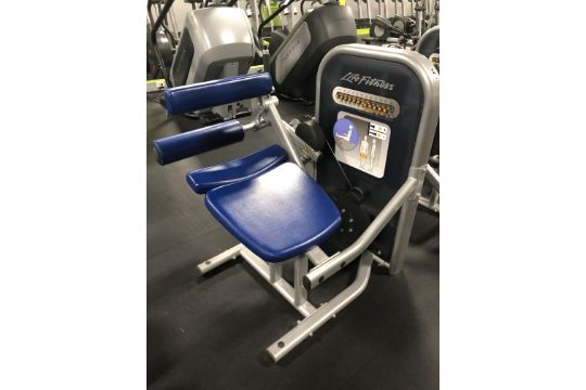 Life Fitness Seated Leg Curl Machine w/12 Setting Resistance