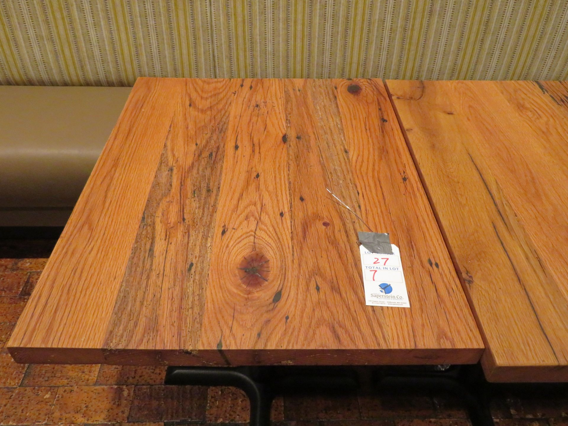 "Lot 27 - (7) Approx. 24"" X 30"" Wood Top Tables"