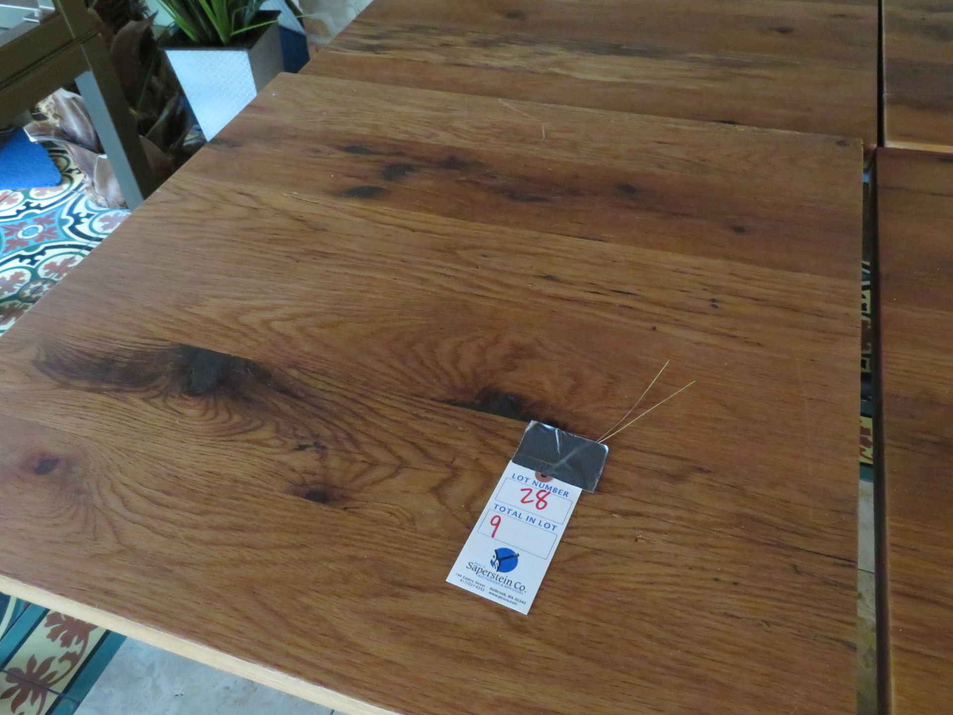 """Lot 28 - (9) Approx. 30"""" X 30"""" Wood Top Tables"""
