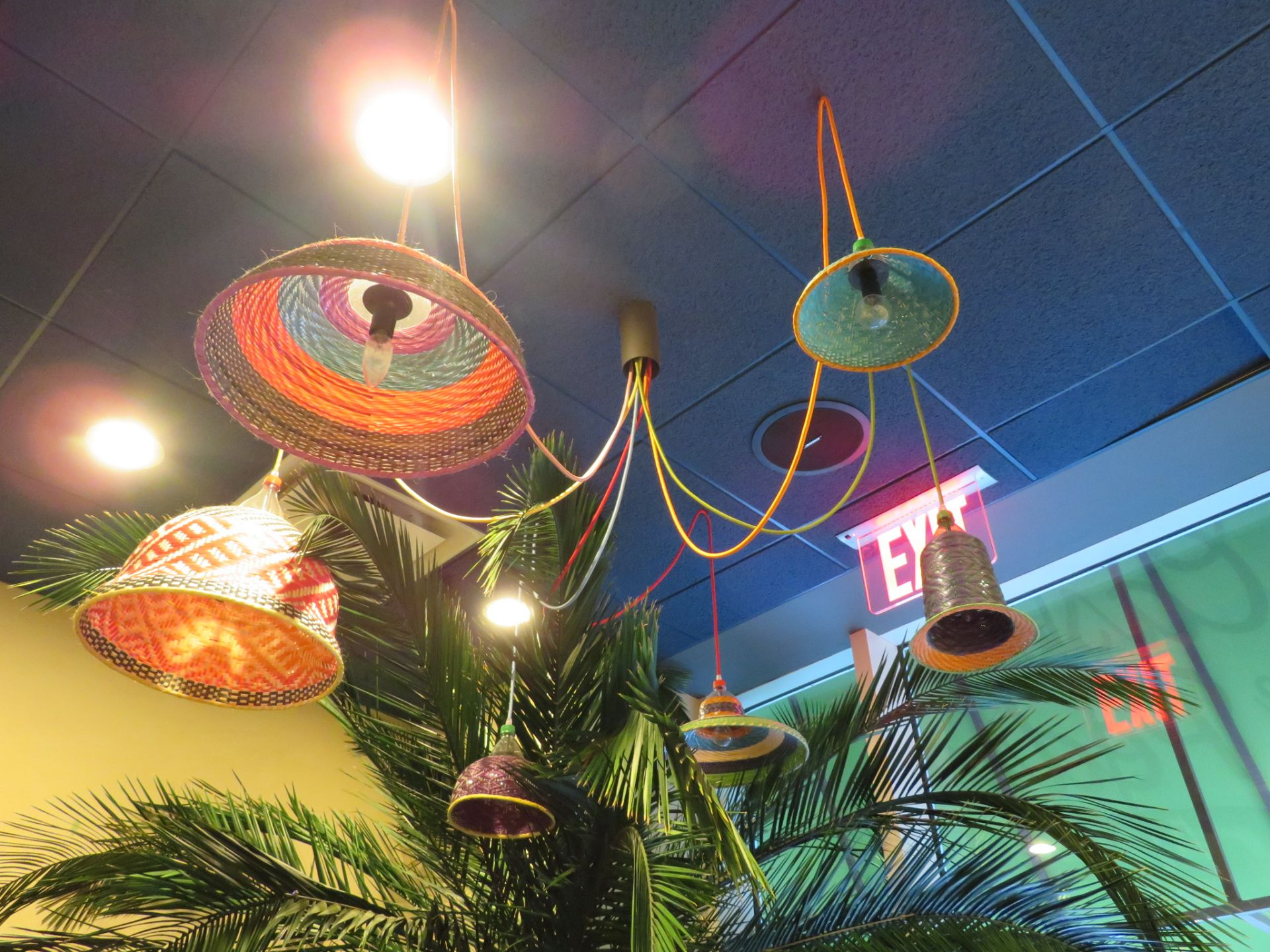 Lot 66 - (Lot) Basket Chandeliers Over Jeep in Take Out Area
