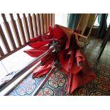 Lot 39 - (2) Tuuci Floor Mounted Patio Umbrellas w/Deck Mounted SS Base
