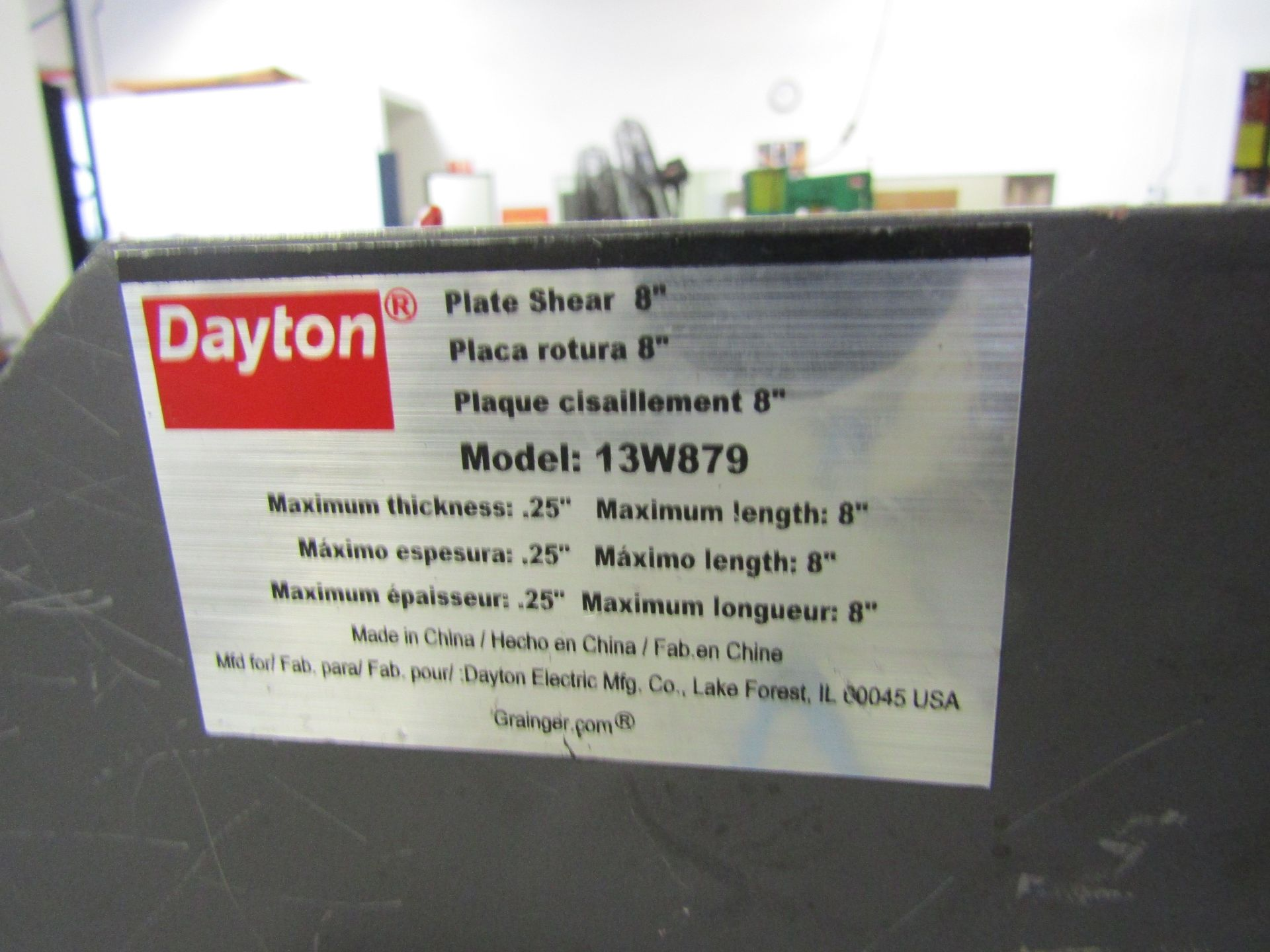 """Lot 9 - 20' x 6' Metal Stock Cooling Table (Used with Extruder), (14) Fan Racks, 8"""" Dayton Shear Model"""