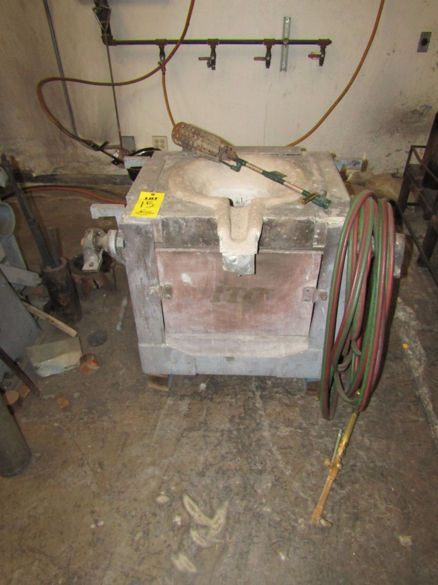 Lot 15 - ITC Induction Furnace #2 With Acetylene Hoses and Torch (ITC Induction Furnace System 3/4)