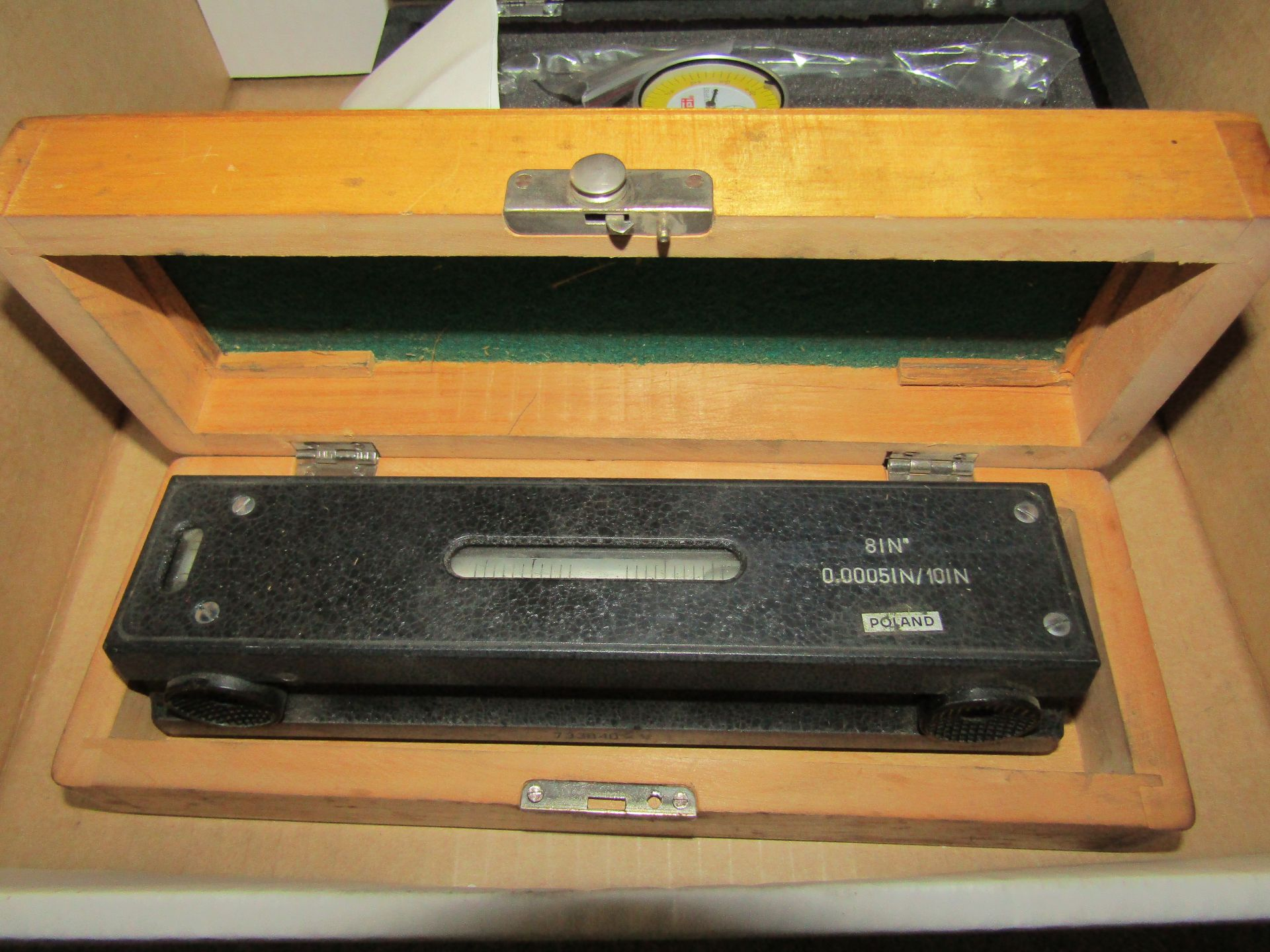"""Lot 45 - Lot to Include: (1) SPI Coaxial Centering Indicator, (1) 8"""" Precision Level"""