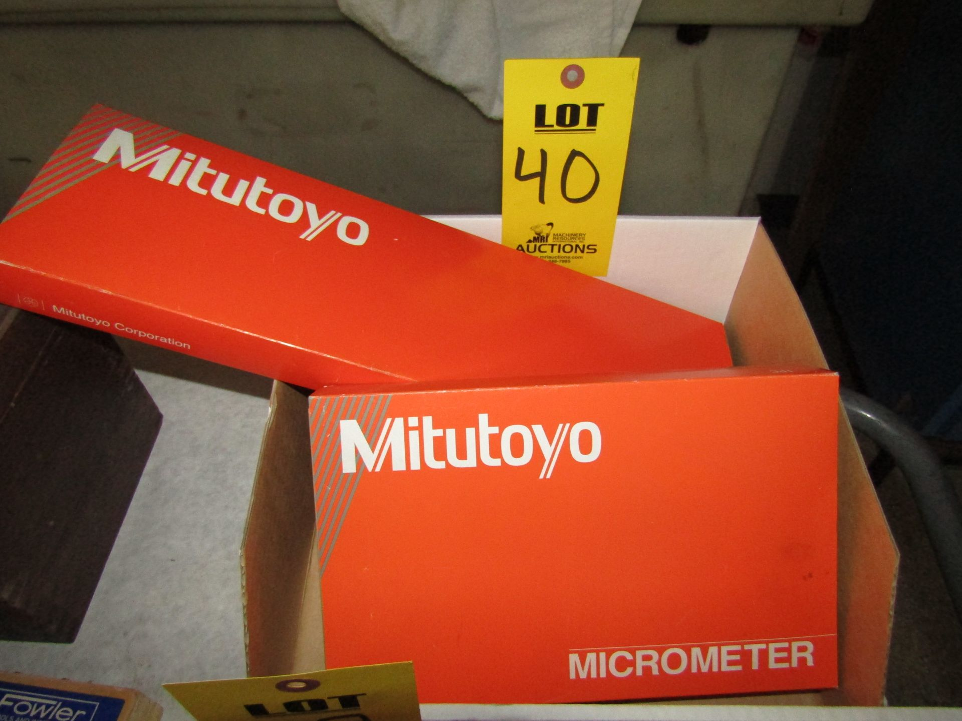 """Lot 40 - Lot to Include: (1) Mitutoyo Micrometer Set 1"""" - 3"""", (1) Mitutoyo Dial Caliper 16"""""""