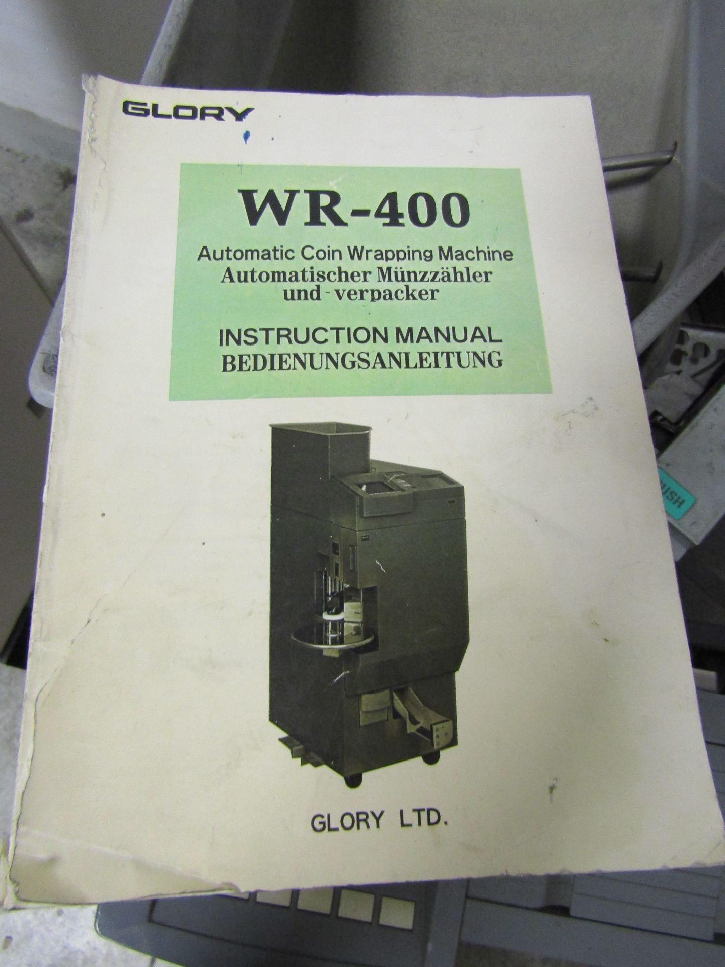 Lot 26 - GLORY WR-400 Automatic Coin Wrapping Machine, S/N 1106, With Manual and Spare Roll of Packing Paper