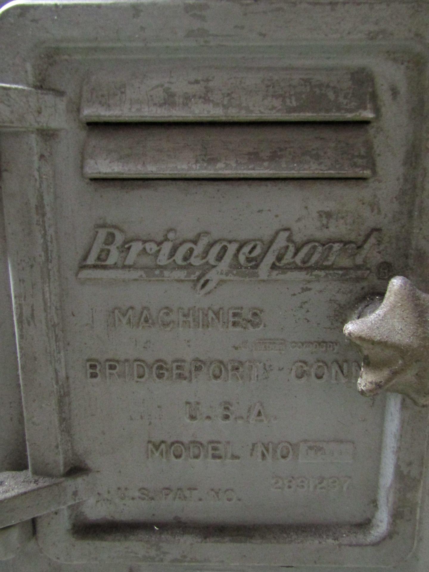 Lot 1 - BRIDGEPORT Vertical Mill, Model 148996, S/N J153444, W/ Sargon Model 652 Digital Read Out