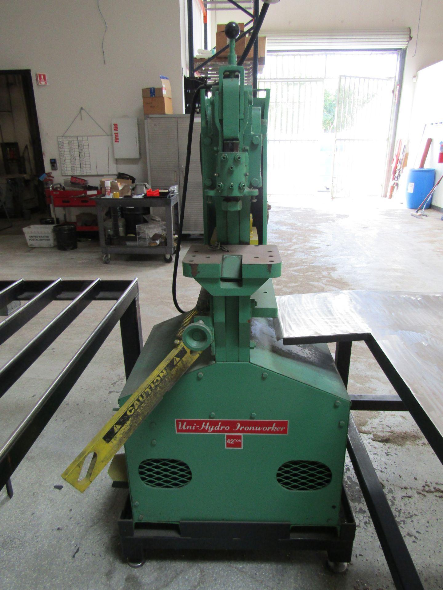 Lot 10 - UNI HYDRO 42-14 Hydraulic Ironworker, 42 Ton, Serial 3P4203X