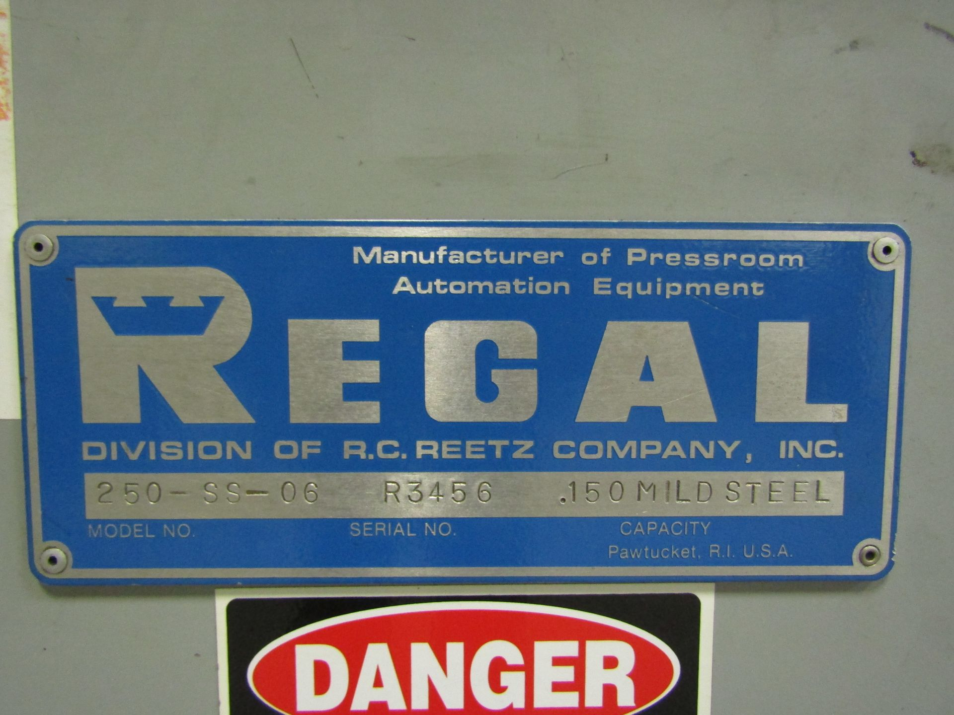 Lot 23 - REGAL Stock Straightener 250-SS-06 (For Blanking Press Strip Feed Line)
