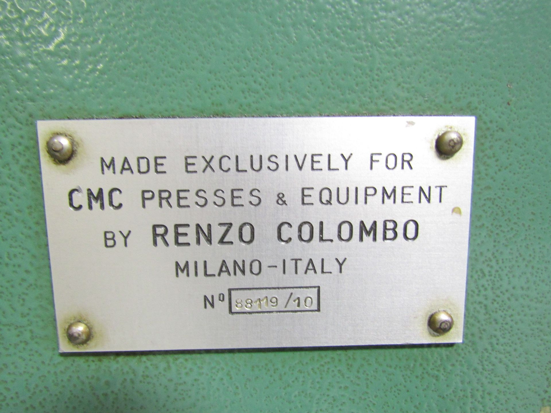 Lot 5 - CMC 550 Ton Hydraulic Coining Press, S/N 88119/10 (Not working, small parts repair may be required)