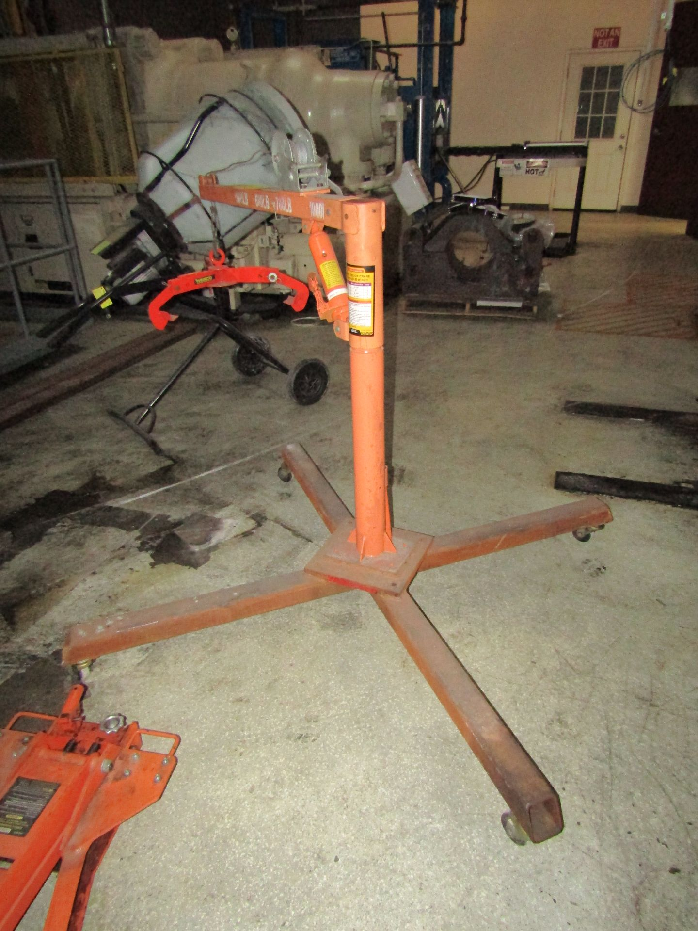 Lot 89 - 1/2 Ton Pickup Truck Crane With Cable Winch, 500 - 1,000 LB Cap, With Wesco Unit Grab Hook