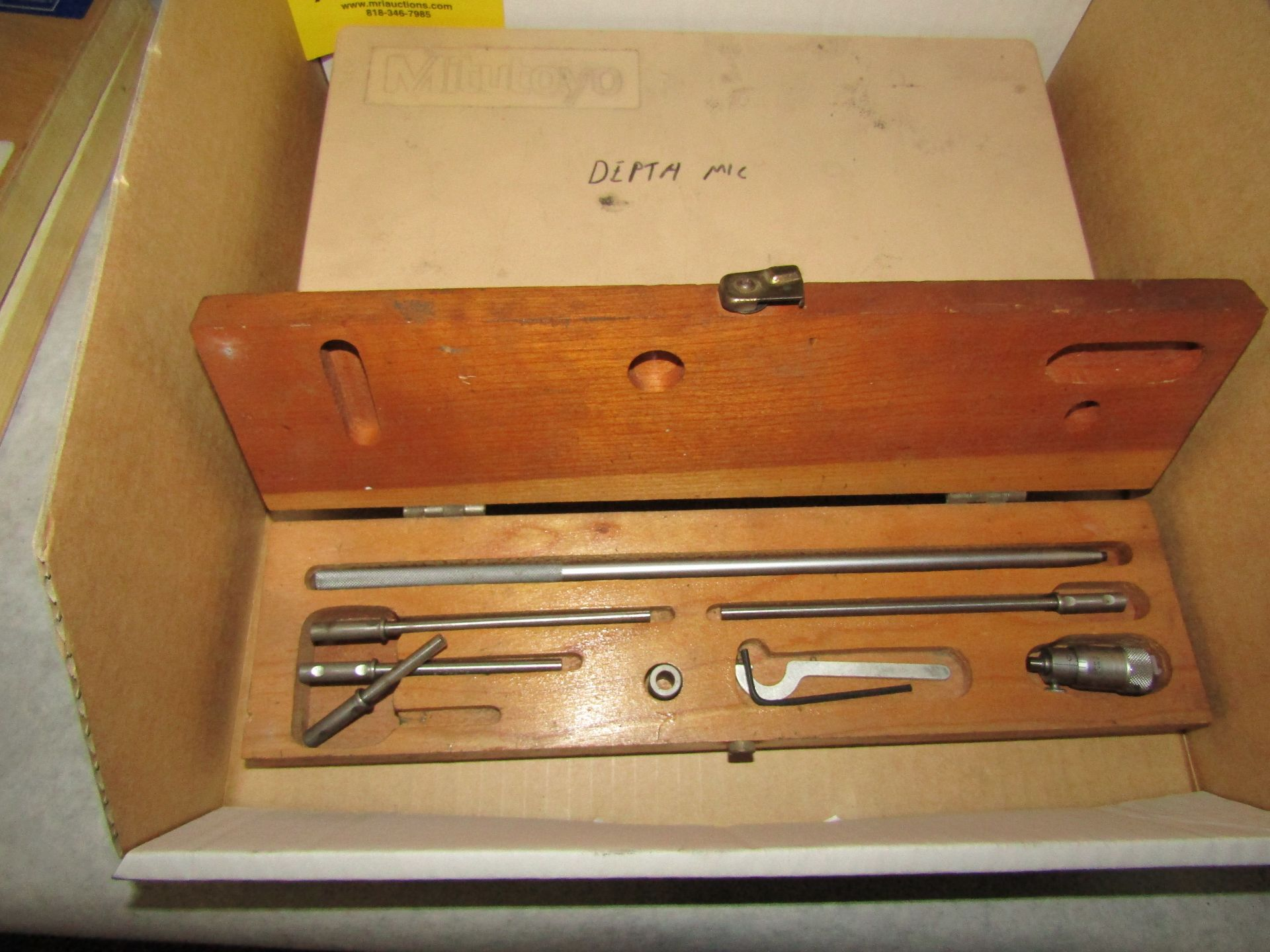Lot 39 - Lot to Include: (1) Mitutoyo Depth Micrometer, and (1) Misc. Bore Micrometer