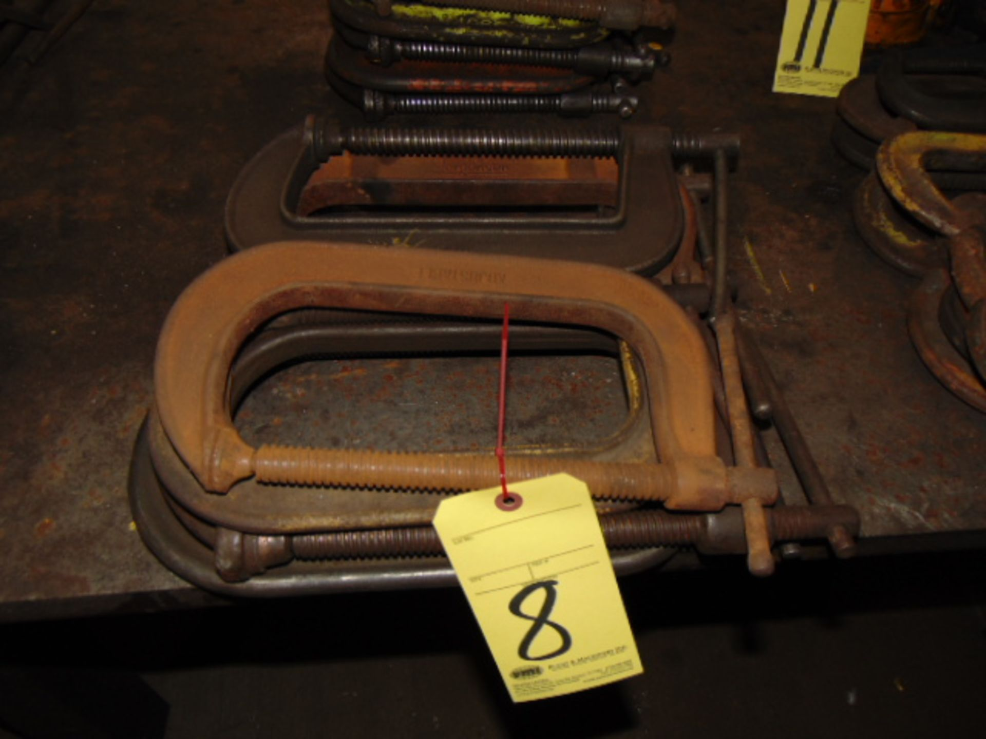 """Lot 8 - LOT OF C-CLAMPS (7), 8"""""""
